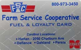 NEW FSC Cardtrol Fuel and Loyalty Card
